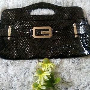 Guess black purse clutch